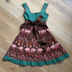 Anthropologie   Diodore Elephant Dress